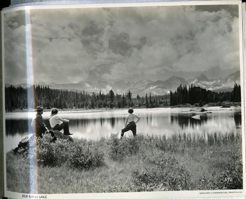 3. Red Rocks Lake, 1932.
