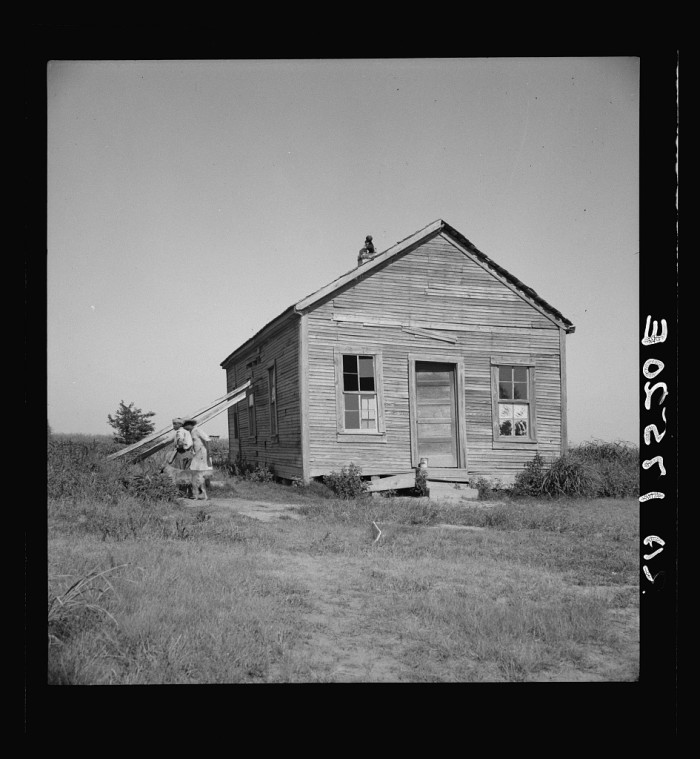 4. Another plantation schoolhouse in the Delta, circa 1937.