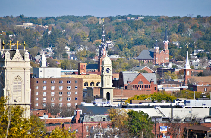 4. The Dubuque skyline is filled with steeples and historic architecture that gives it a character all its own.