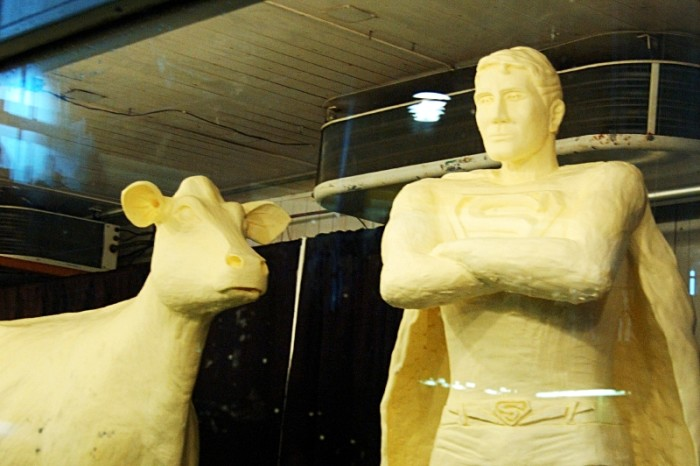 4. You've made the trek to the Iowa State Fair to see the butter cow.
