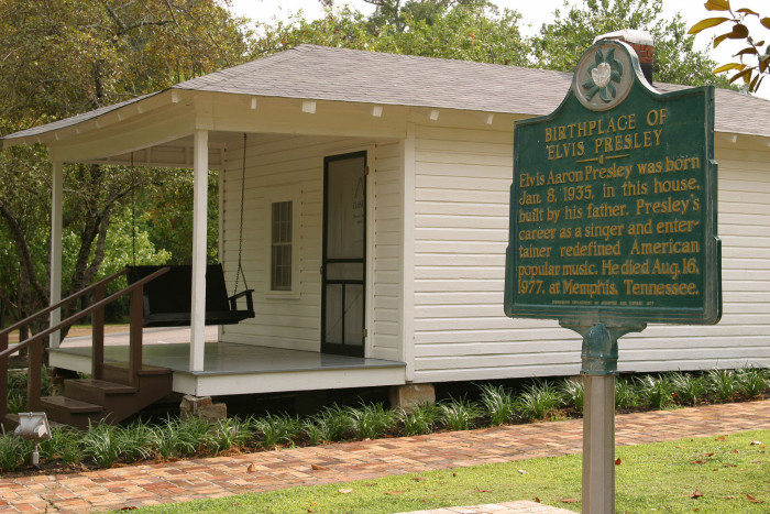 4. The Birthplace of Elvis Presley