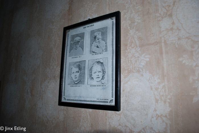 When the sheriff went through the house, the scene he found was truly haunting. An entire family, including six children, murdered in their beds; bludgeoned to death by the blunt side of an ax, which was found partially cleaned, leaning against the wall of the downstairs bedroom.