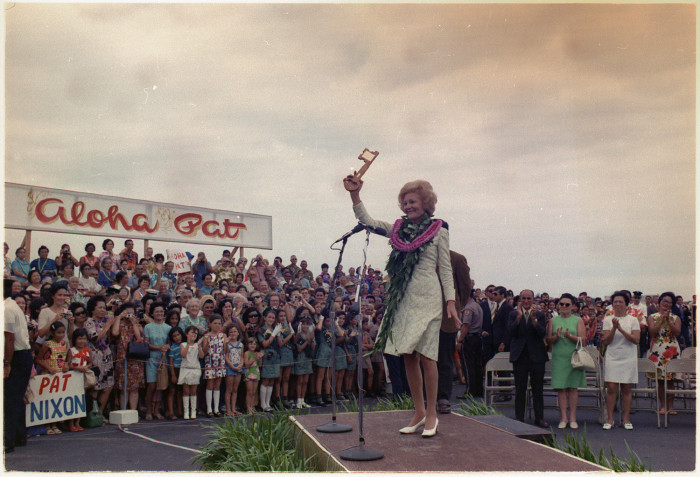 """4. Mrs. Nixon was given the """"key to the city"""" of Hilo, Hawaii in 1972."""