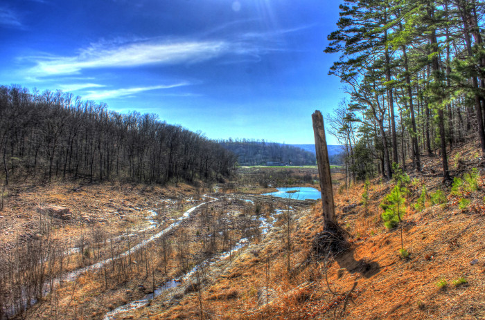 4.A beautiful valley landscape at Johnson's Shut-Ins State Park.