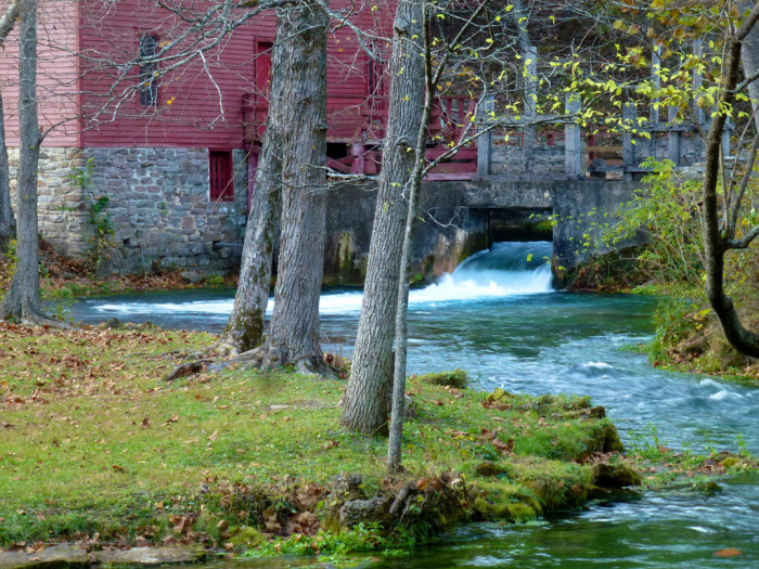 3.Alley Spring and Mill, in the Ozark National Scenic Waterways in southeastern Missouri