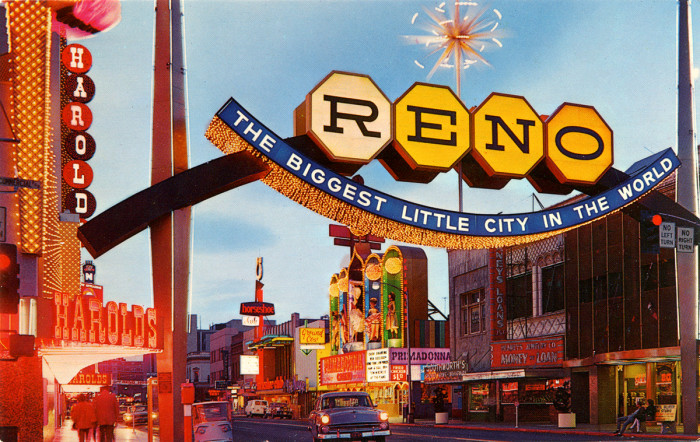 6. Famous Reno Arch, 1960s - Reno, NV