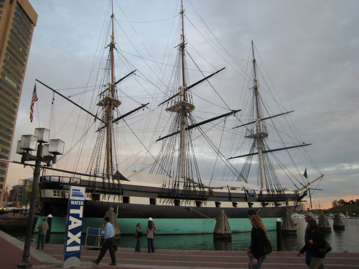 8. The USS Constellation, located at the Baltimore Harbor, was used during the Civil War era.