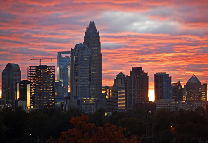4. Charlotte looks magnificent at sunset.