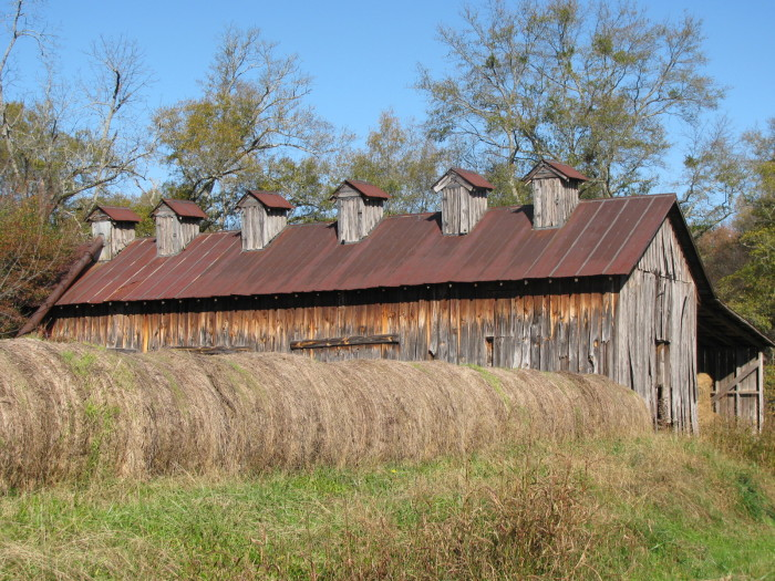 8. This beautiful barn is located in Oxford, Alabama.
