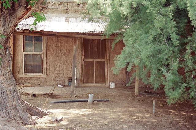 12. An empty adobe house near Mesilla.