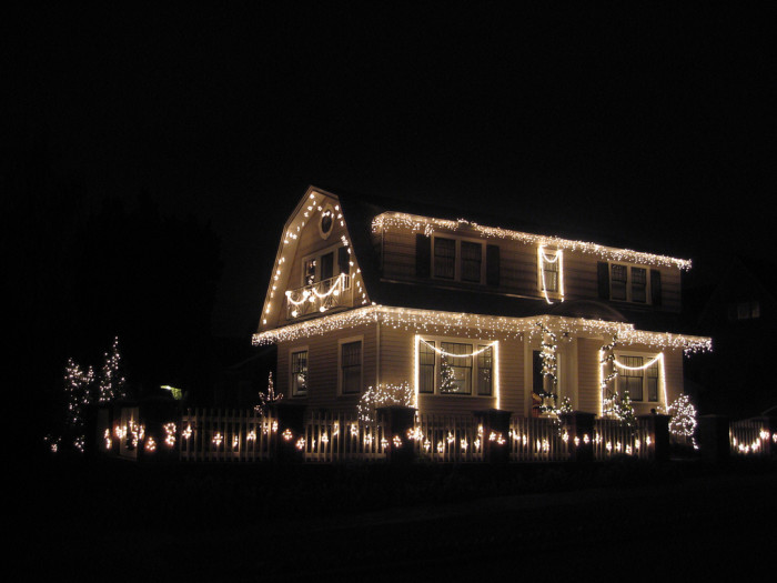 11. In Guilford, only white Christmas lights are allowed for display.