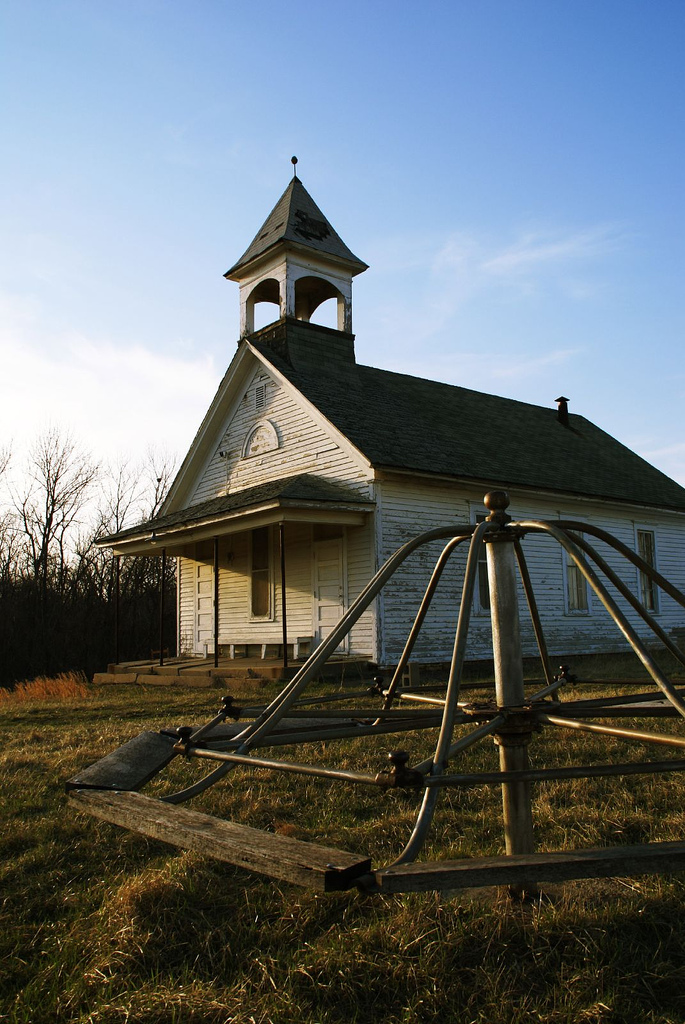 "3. ""Schoolhouse & Merry-Go-Round."" (Franklin County)"
