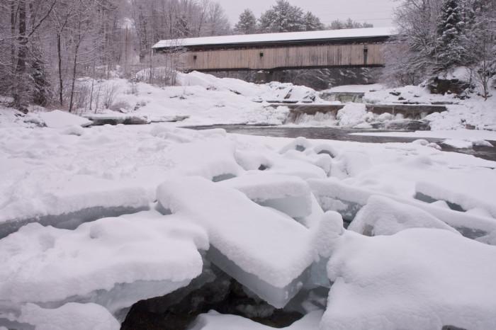 6. A frozen river in Bath is breathtaking.