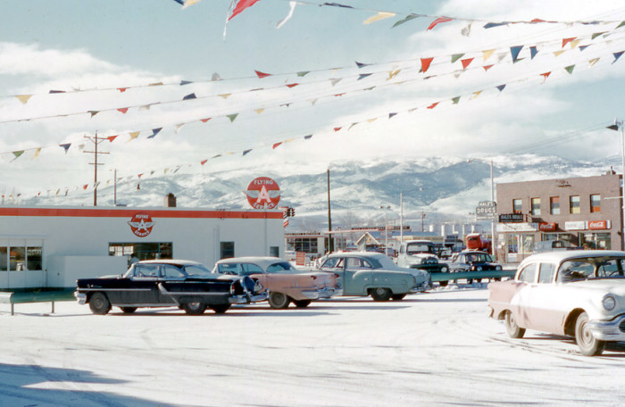 1. Flying A Service Station, Reno, 1950s