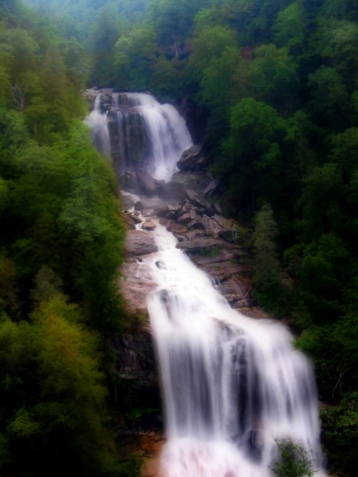 10. Standing in awe of the height and power of Upper Whitewater Falls.