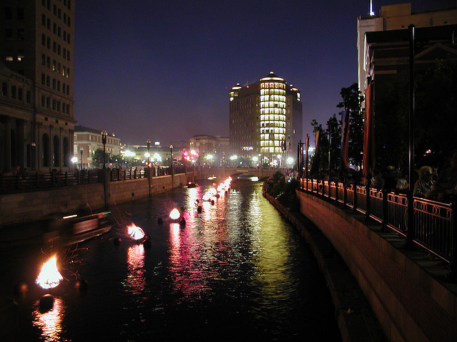 13. They set the Providence river ablaze throughout the summer and gather by the thousands to watch it.
