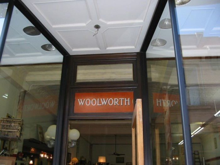 3. Getting some of your shopping done at the local Woolworth's.