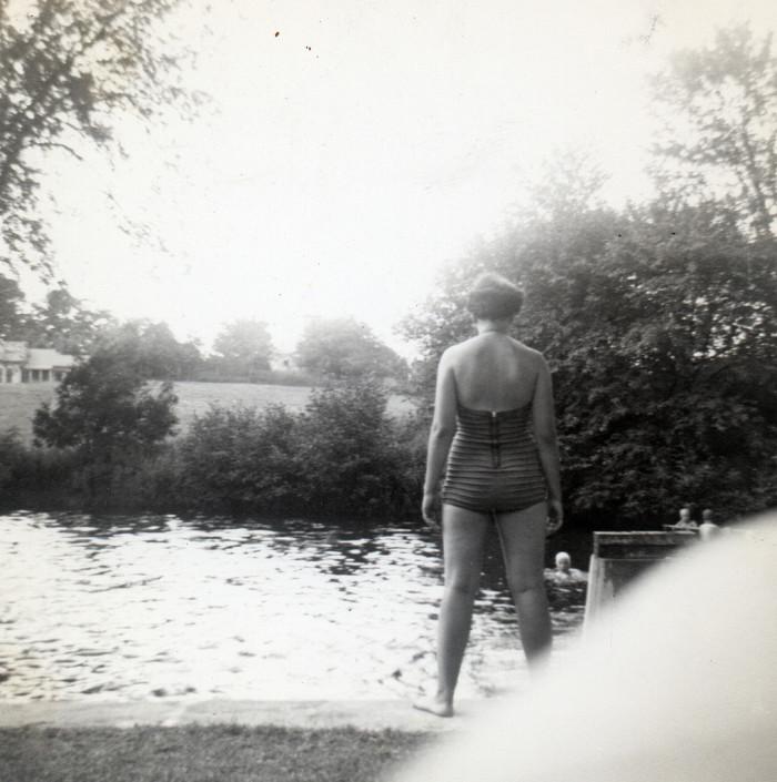 12. Off for a swim!