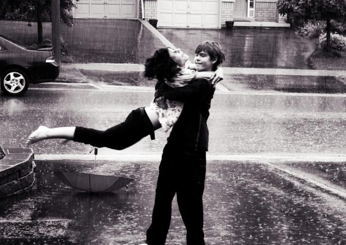 10. It's raining outside!