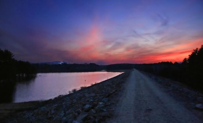 16. Sunset over Pat's Peak.