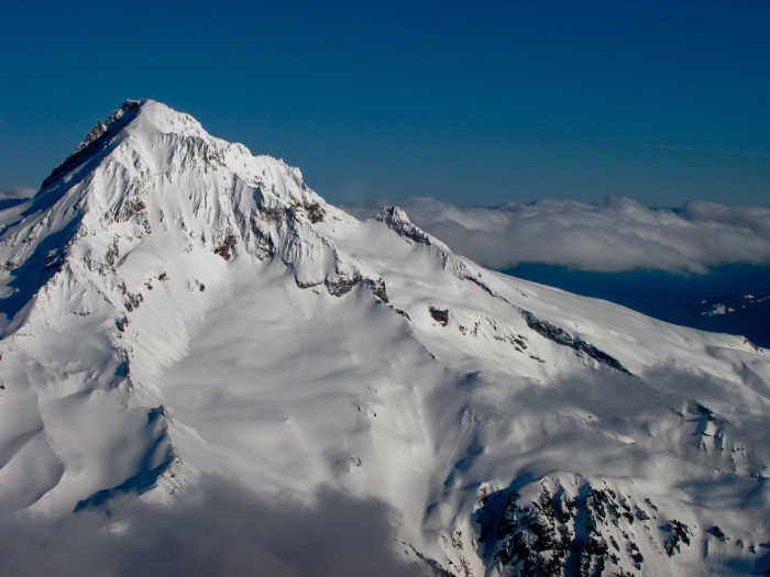 An aerial view of the majestic peak: