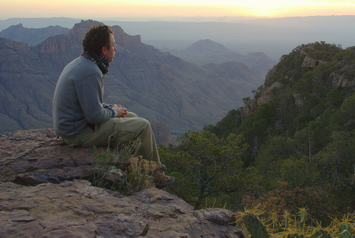 I'm sure this man had some very profound realizations about life while sitting here, gazing out at nature's immaculate creation.