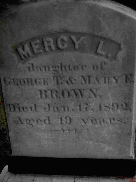 7. Mercy Brown's Grave in Chestnut Hill Cemetery, Exeter