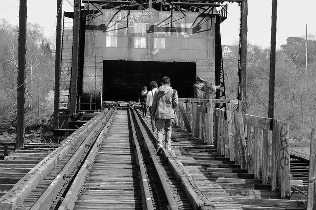 5. Seekonk River Train Bridge, Providence. This very large and very old bridge formerly connected the Downcity District of Providence with East Providence.