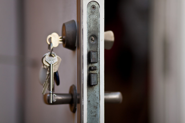 2. You have a security light on your house but you rarely lock your doors.