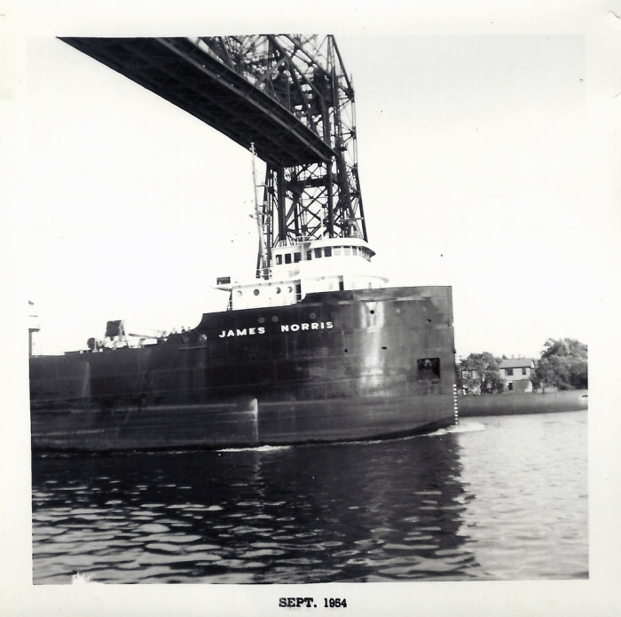 6. In September 1954, the SS James Norris arrives in Duluth.
