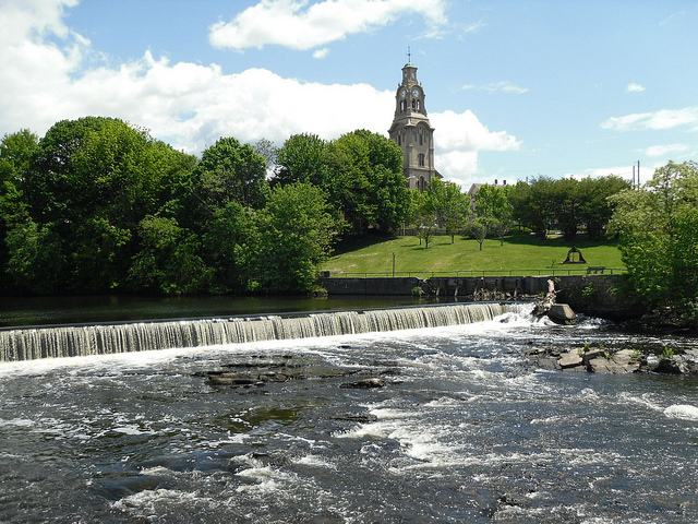 6. The falls at Slater Mill Historic Site, Pawtucket