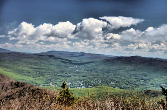 5. The undulating hills and valleys of the countryside as seen from Mt. Greylock.