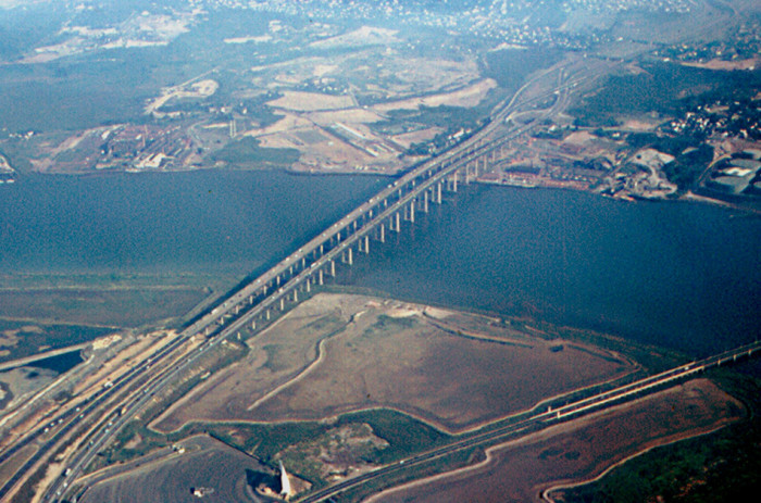 13. The Garden State Parkway over the Raritan River in 1965.