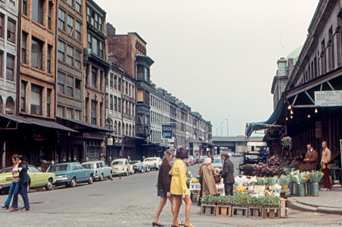 18. Old Market district in Boston, 1972.