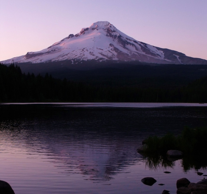 Here's a photo of Mt Hood reflected on the beautiful Trillium Lake: