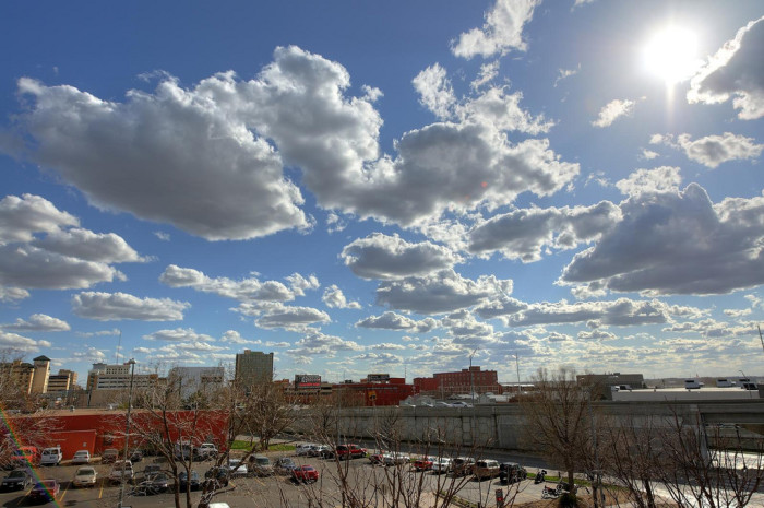 14. Lincoln looks especially lovely under a canopy of fluffy clouds.