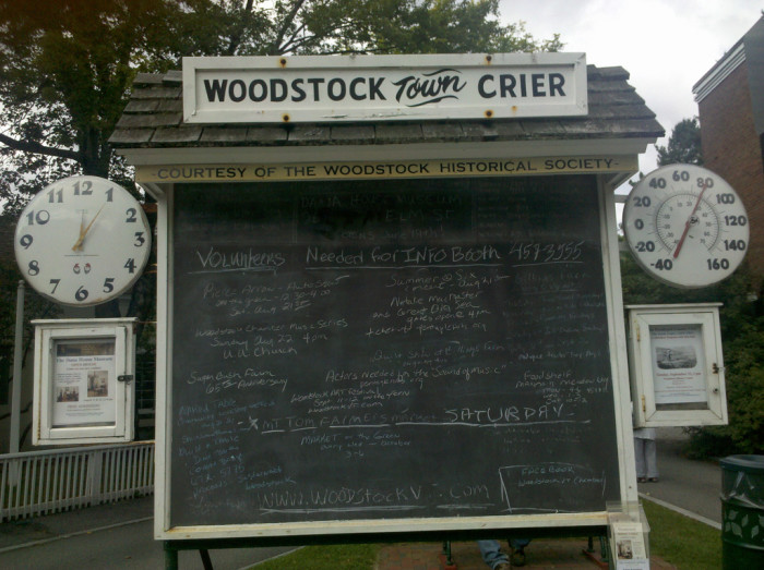 5.  Woodstock Town Crier