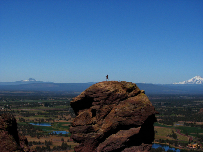 11. Standing on the top of the massive Monkey Face Rock