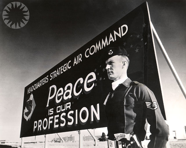 A billboard just outside the gates at Offutt AFB in the early 1960s.