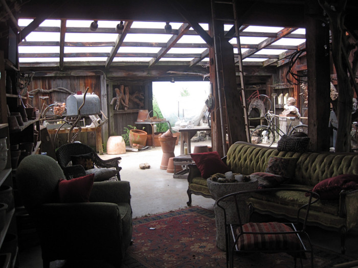 8. This barn has been transformed into a beautiful sitting room.