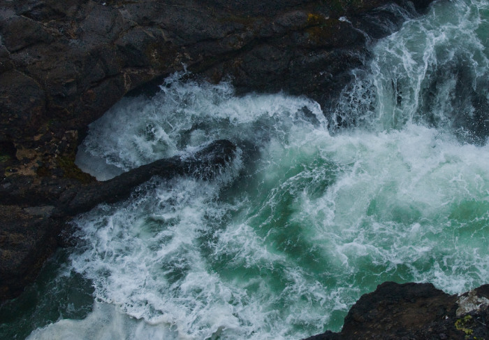 14. Peering down into the Devil's Churn at Cape Perpetua