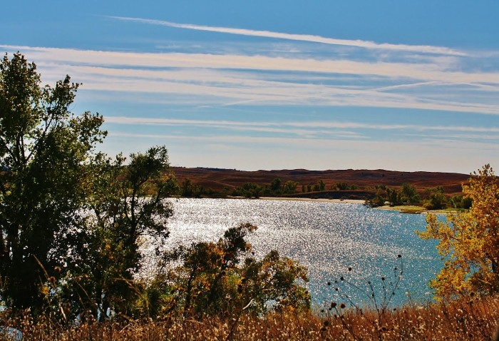 19. The autumn skyline over Merritt Reservoir is absolute perfection.