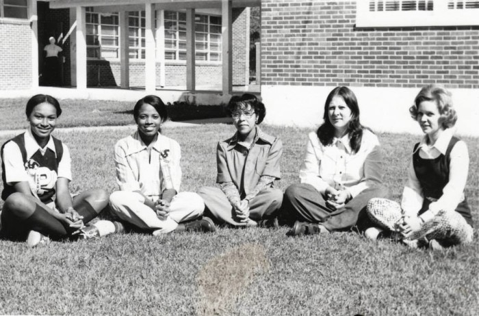 5. This photo was taken in 1976 at Picayune Memorial High School. The group of girls photographed are believed to be officers of an academic or extra-curricular club.