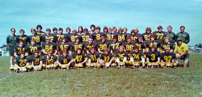 5. Dubuque's Hempstead High School football team poses for a photo in 1974.