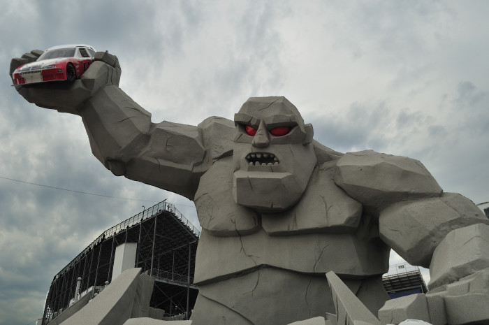 """4. Under the """"monster"""" at the entrance to the Monster Mile at Dover Downs"""