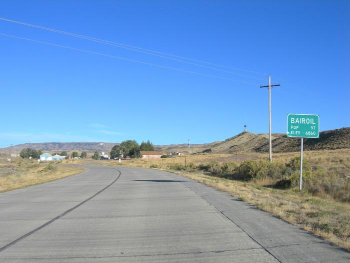 7. Bairoil, Wyoming