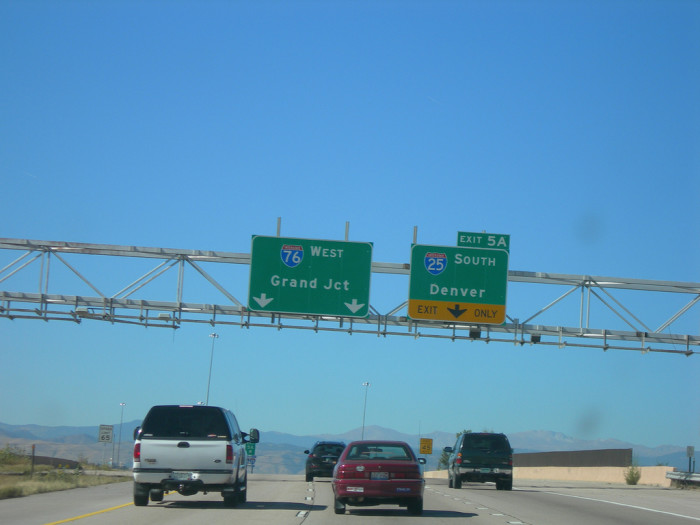 9. Driving on I-25 has become the bane of our existence...