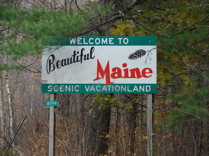 11. Enter Maine on the road less traveled, and you'll spot this beaut.