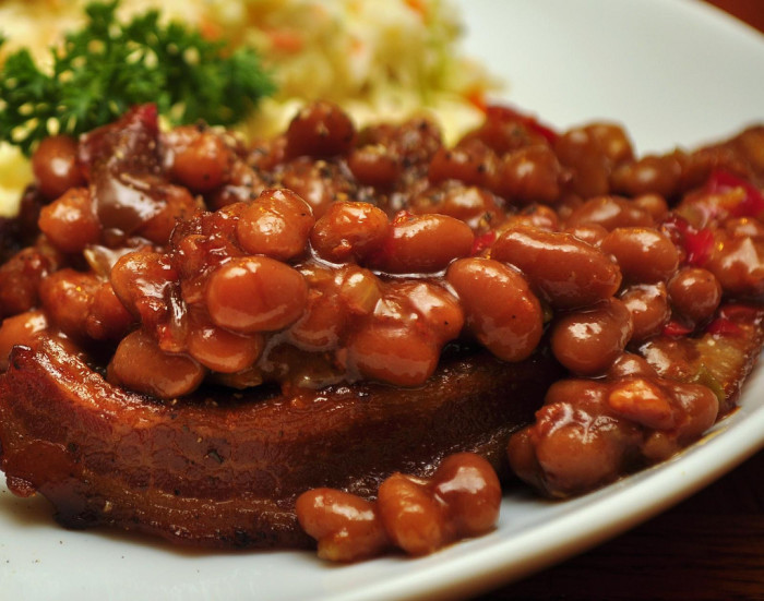 4. A few cans of Boston baked beans.