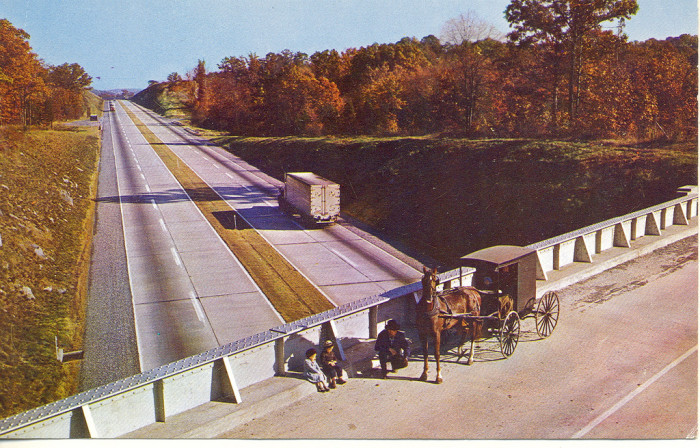 "16. ""The Pennsylvania Turnpike, Not for the Amish Buggy"""